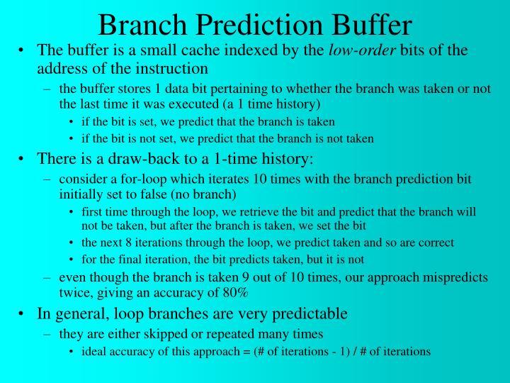 Branch Prediction Buffer