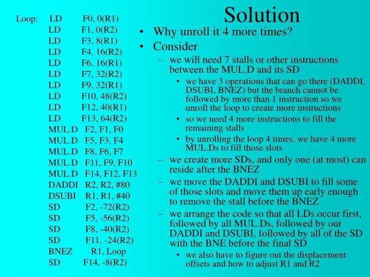 Loop:     LD         F0, 0(R1)