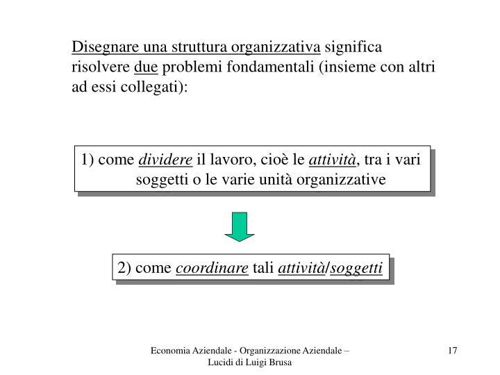 Disegnare una struttura organizzativa