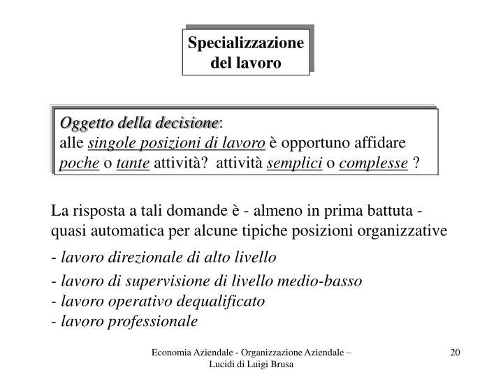 Specializzazione
