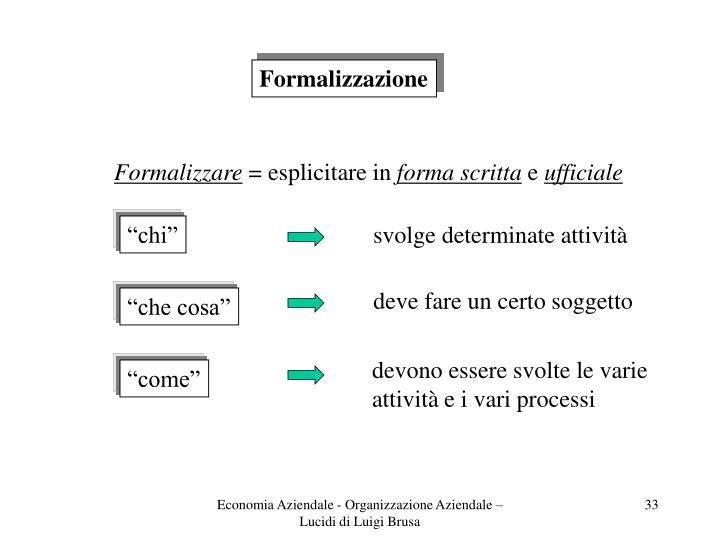 Formalizzazione