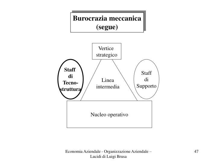 Burocrazia meccanica