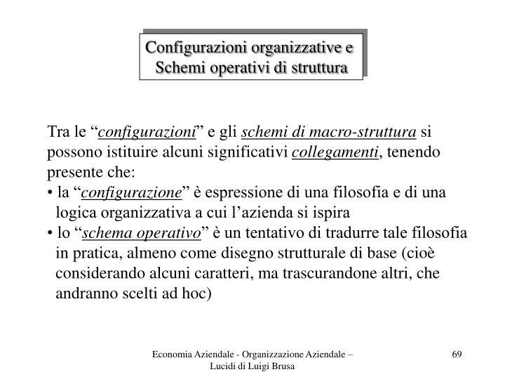 Configurazioni organizzative e
