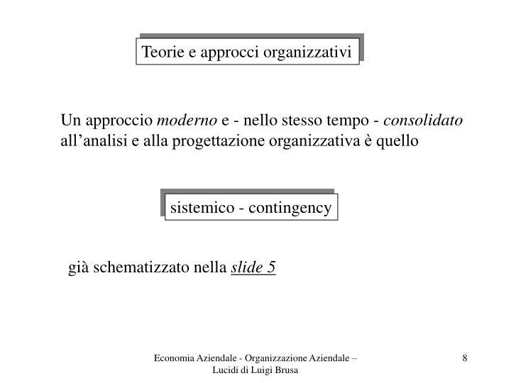 Teorie e approcci organizzativi