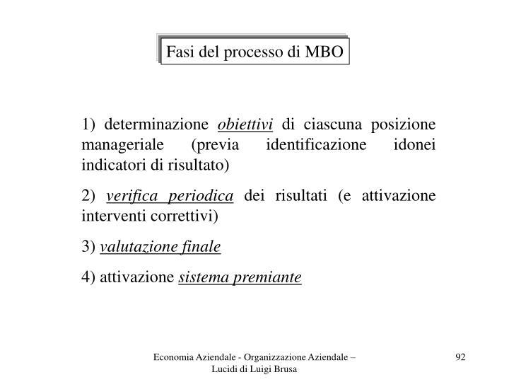 Fasi del processo di MBO