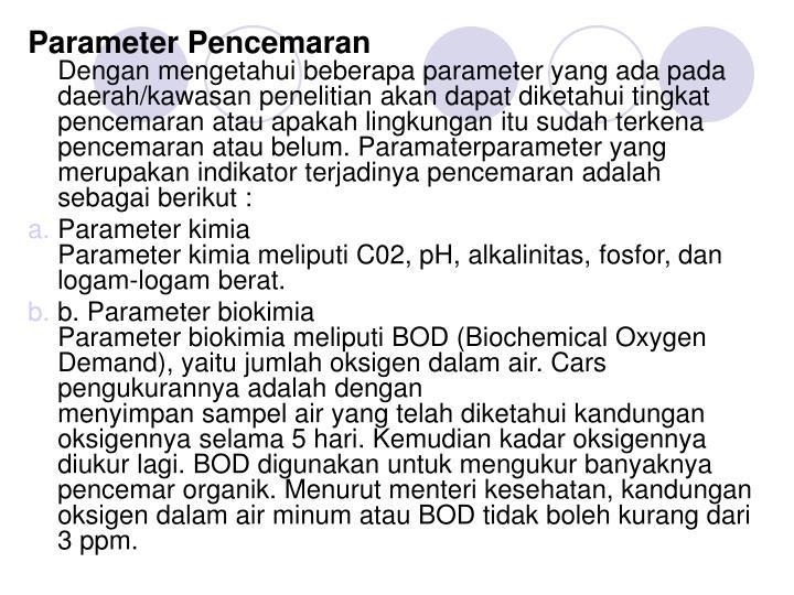 Parameter Pencemaran