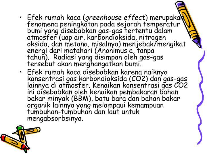 Efek rumah kaca (