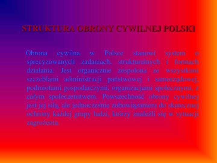 STRUKTURA OBRONY CYWILNEJ POLSKI