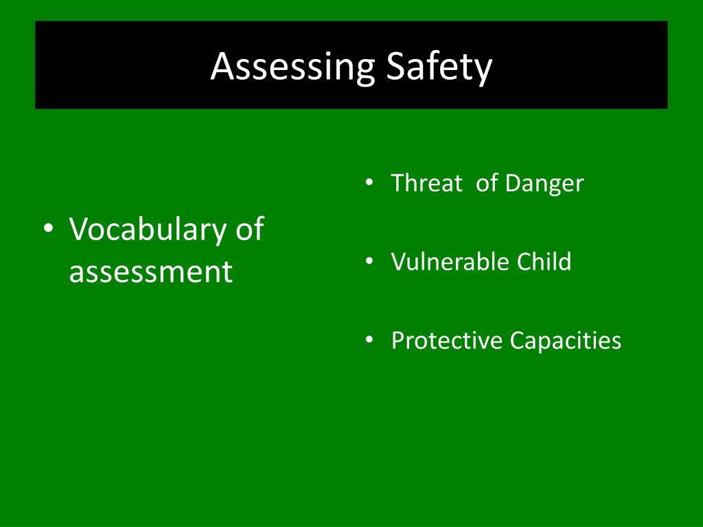 Assessing Safety