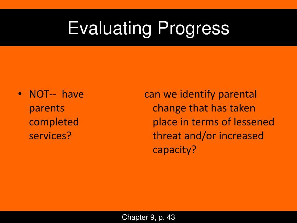 Evaluating Progress