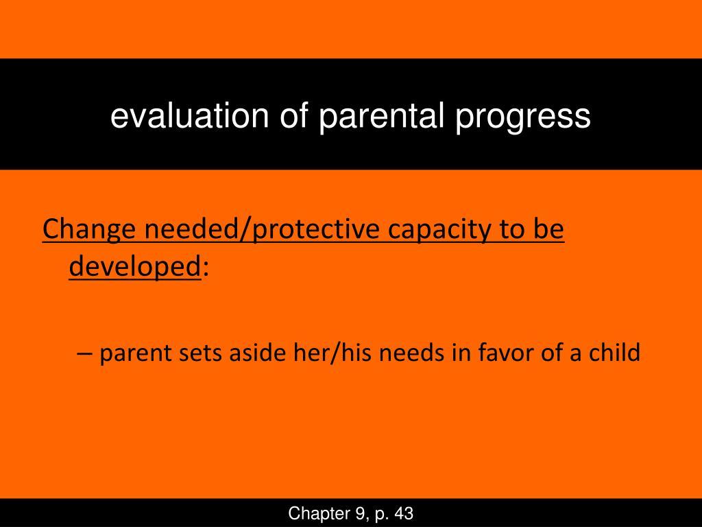 evaluation of parental progress