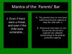 mantra of the parents bar50