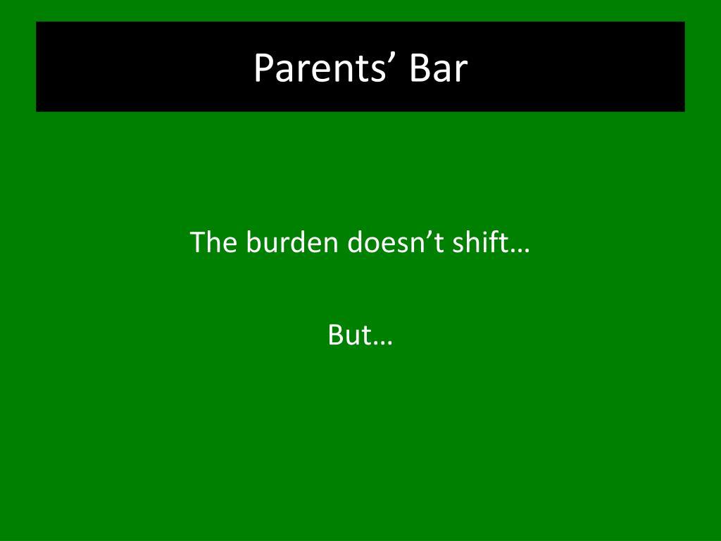 Parents' Bar