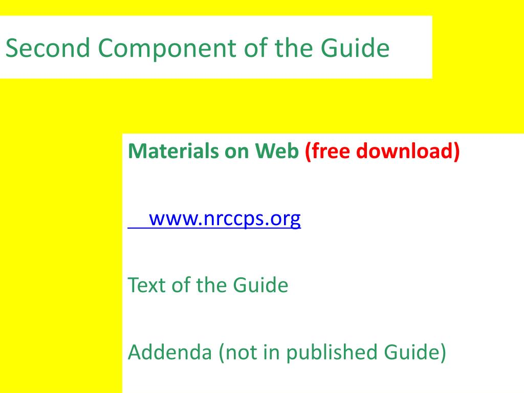 Second Component of the Guide
