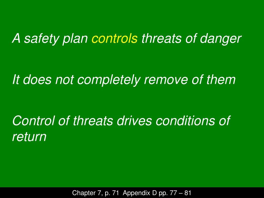 A safety plan