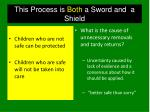 this process is both a sword and a shield