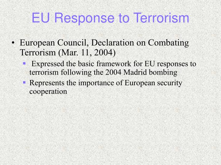 EU Response to Terrorism