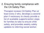 2 ensuring family compliance with the ca safety plan