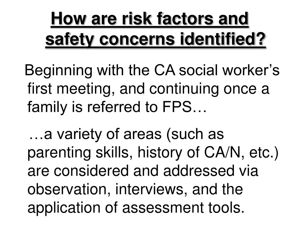 How are risk factors and