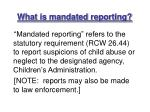 what is mandated reporting