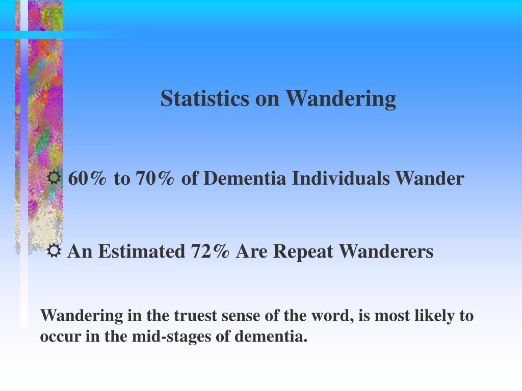 Statistics on Wandering