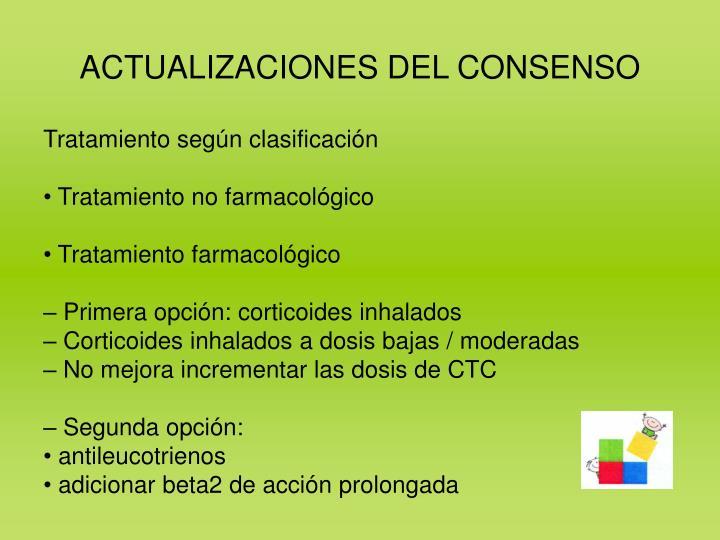 ACTUALIZACIONES DEL CONSENSO