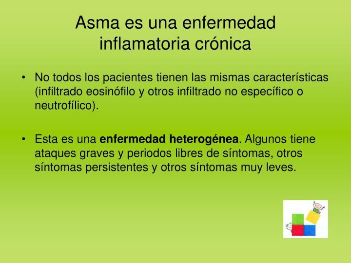 Asma es una enfermedad