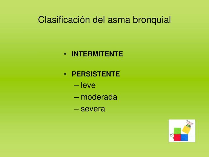 Clasificación del asma bronquial