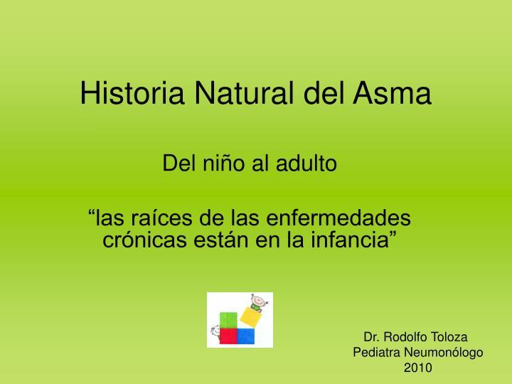 Historia Natural del Asma