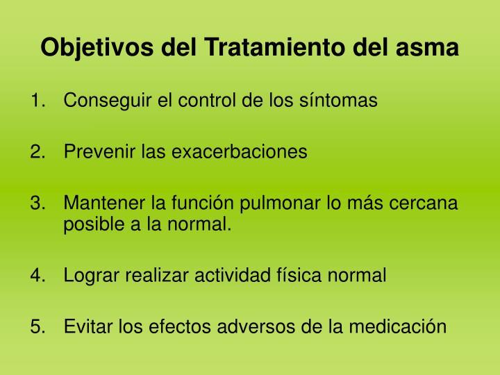 Objetivos del Tratamiento del asma
