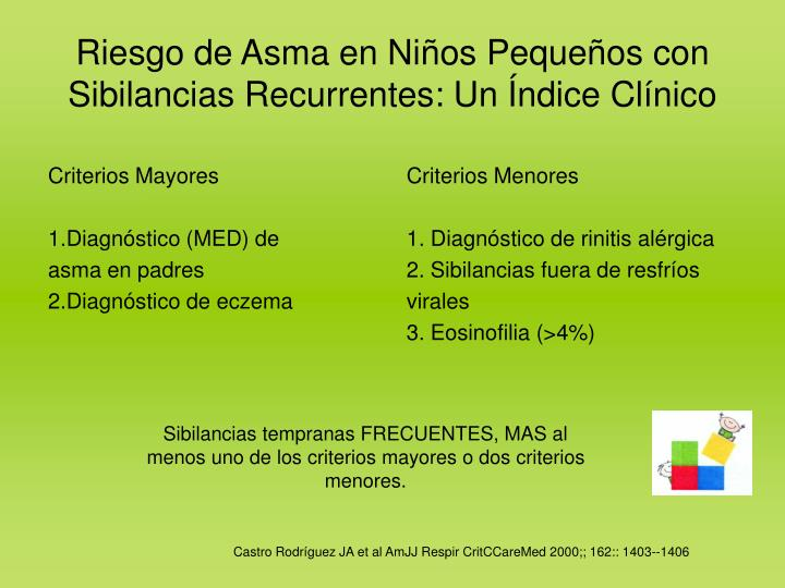 Criterios Mayores