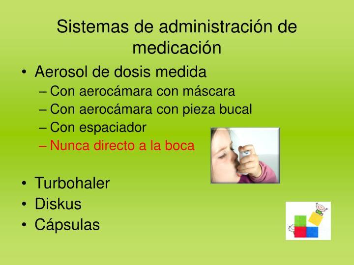Sistemas de administración de medicación