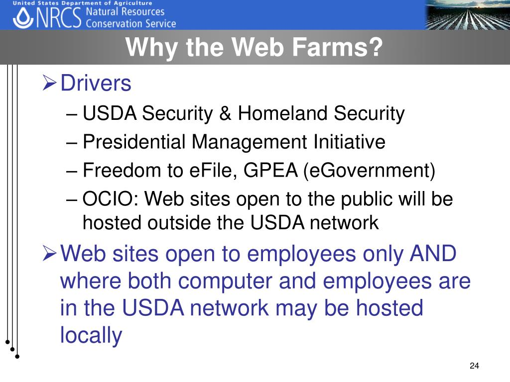Why the Web Farms?