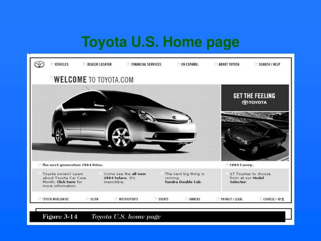Toyota U.S. Home page