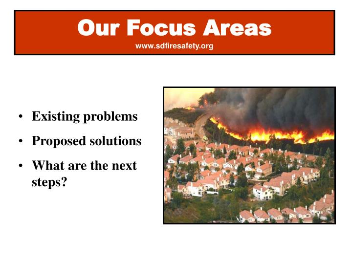 Our focus areas www sdfiresafety org
