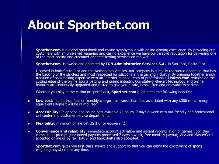 About Sportbet.com