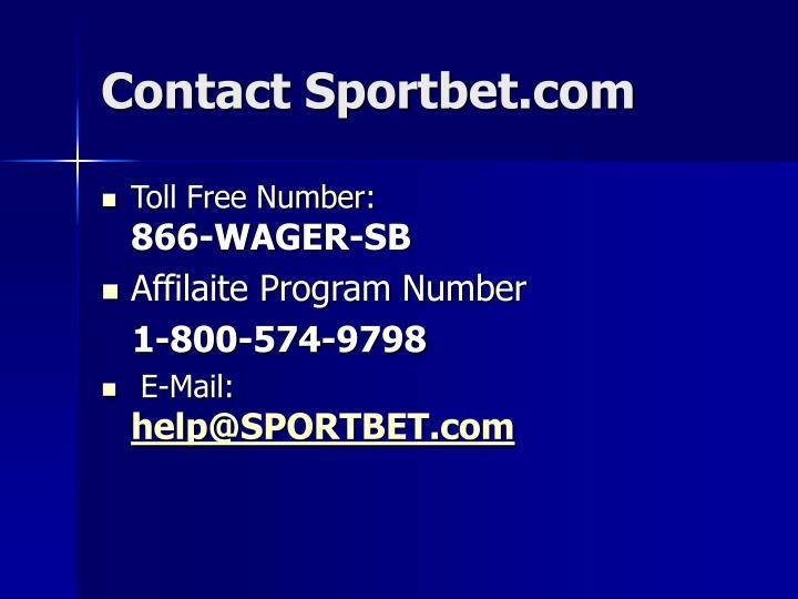 Contact Sportbet.com