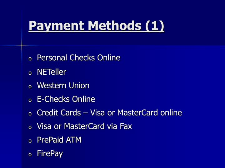 Payment Methods (1)