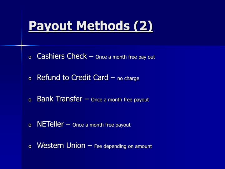 Payout Methods (2)