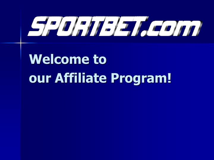 Welcome to our affiliate program