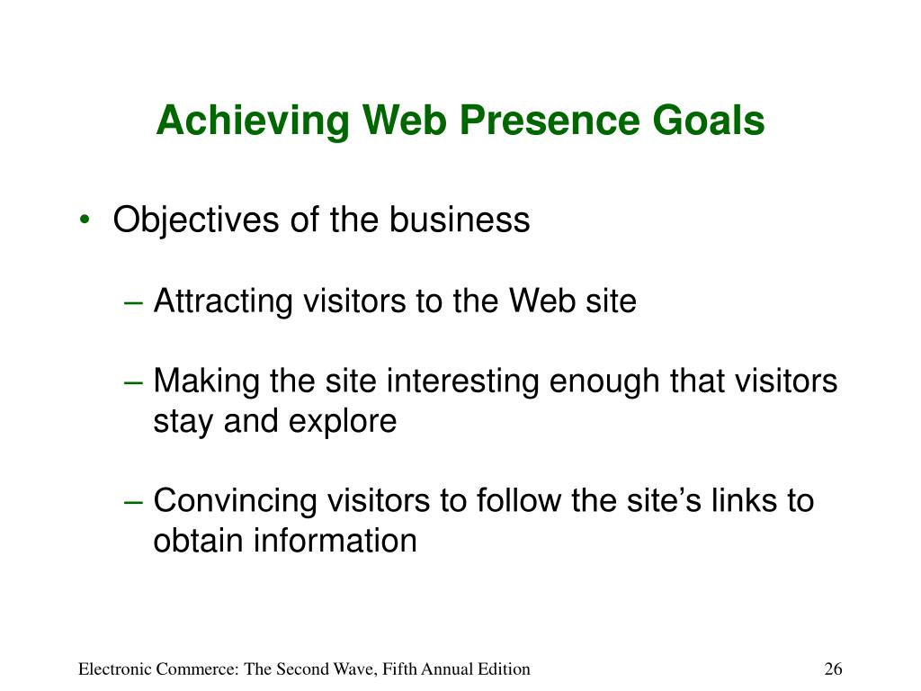 Achieving Web Presence Goals