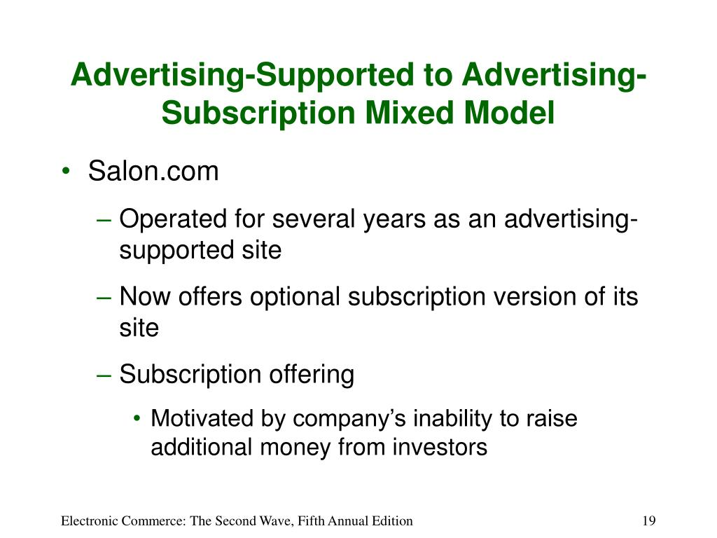 Advertising-Supported to Advertising-Subscription Mixed Model