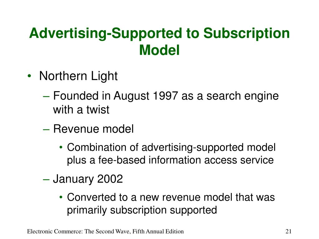 Advertising-Supported to Subscription Model