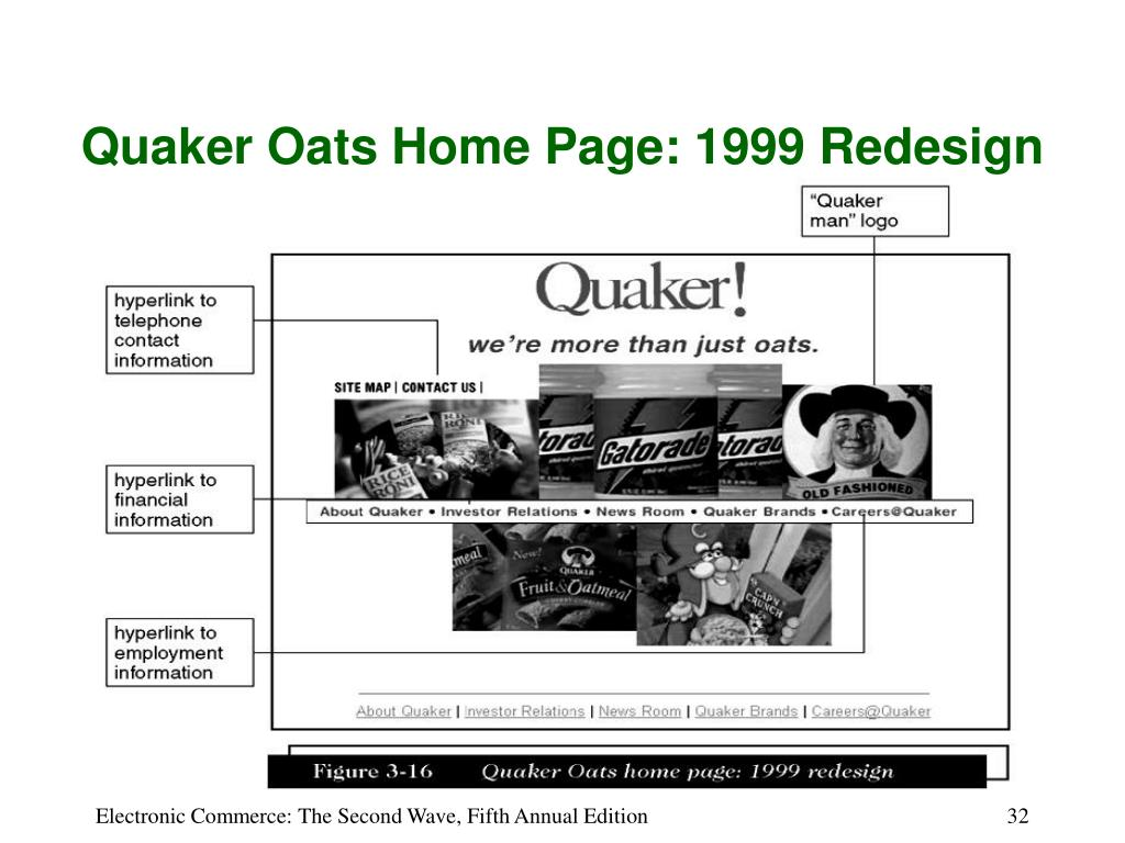 Quaker Oats Home Page: 1999 Redesign
