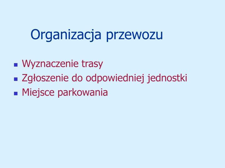 Organizacja przewozu