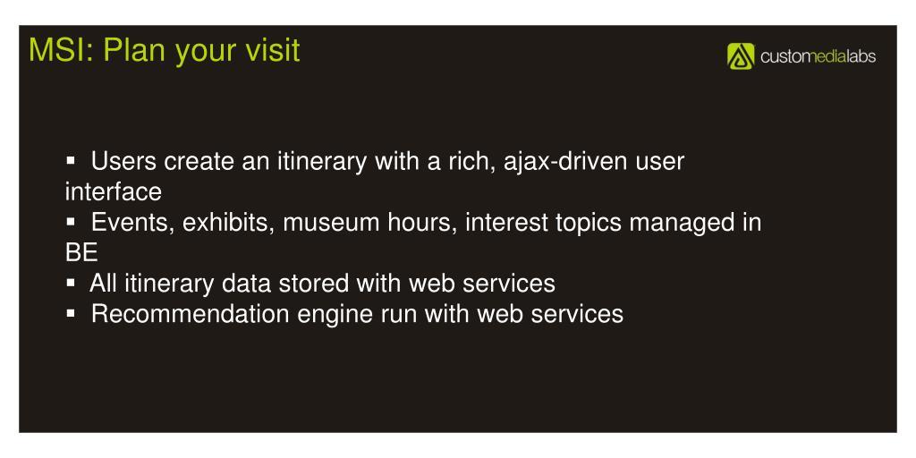 MSI: Plan your visit