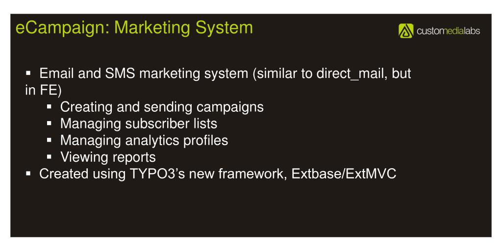 eCampaign: Marketing System