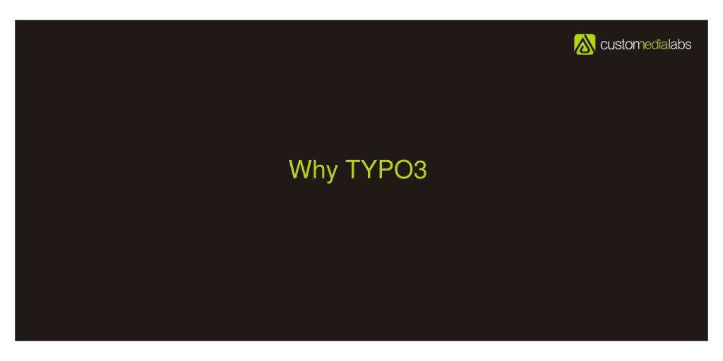 Why TYPO3