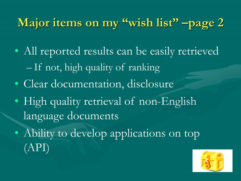 """Major items on my """"wish list"""" –page 2"""