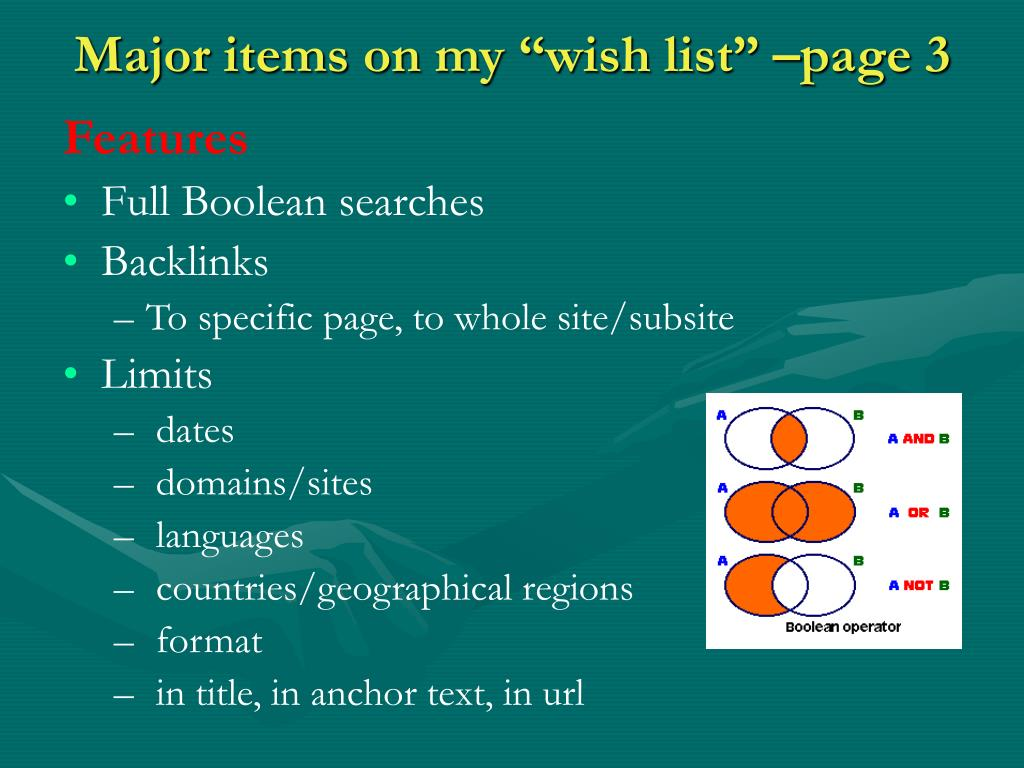 """Major items on my """"wish list"""" –page 3"""